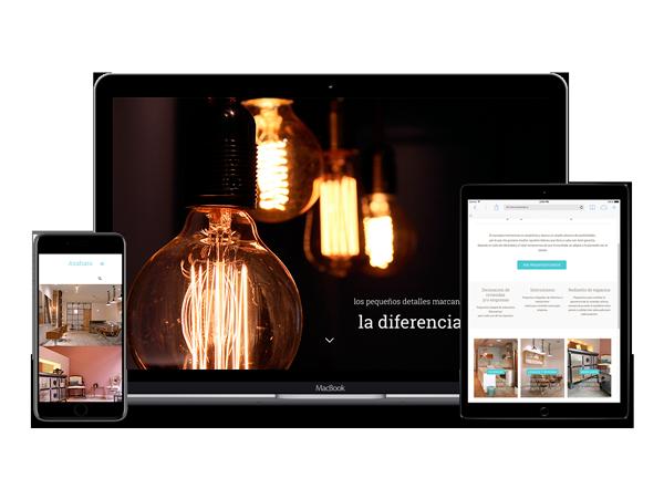 Diseño web Responsive para la web de Azahara Santiago Diseñadora de Interiores