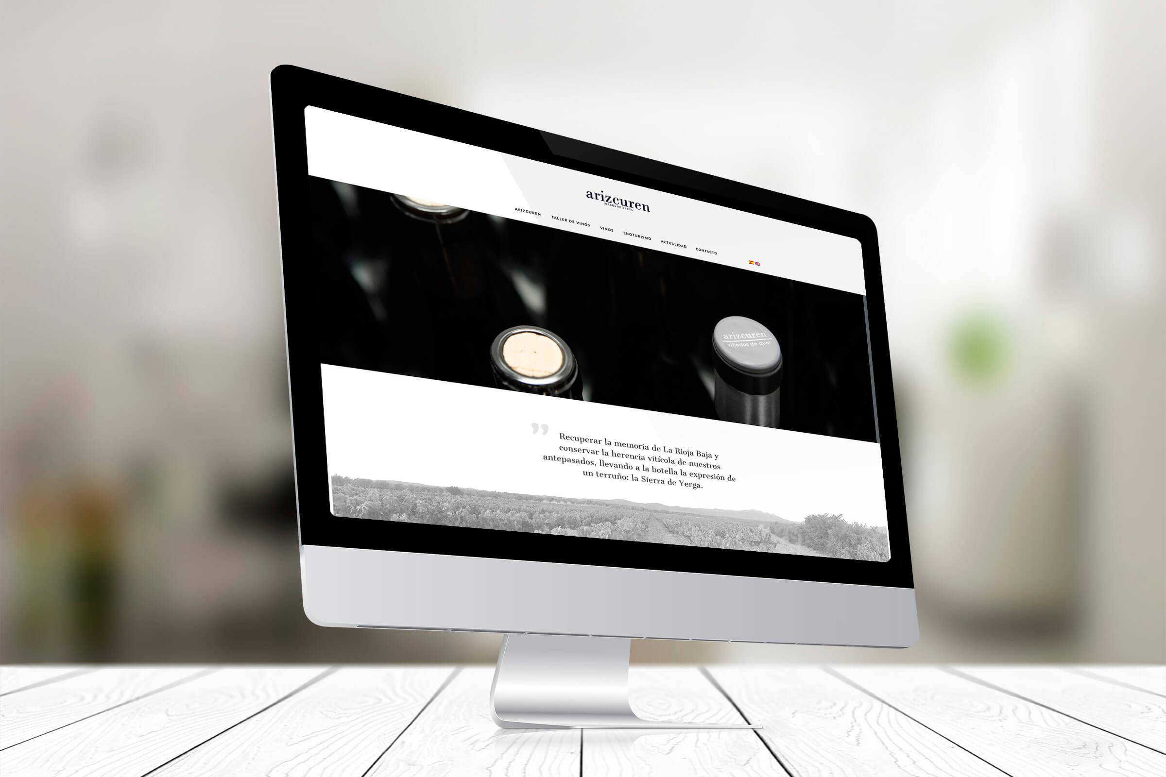 Página web de Arizcuren Vinos