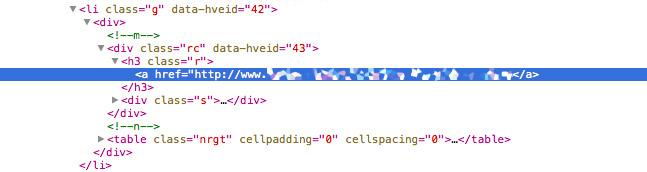 Código a href para la inserción de un enlace.