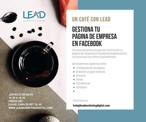 Cartel con el curso para Facebook de Lead