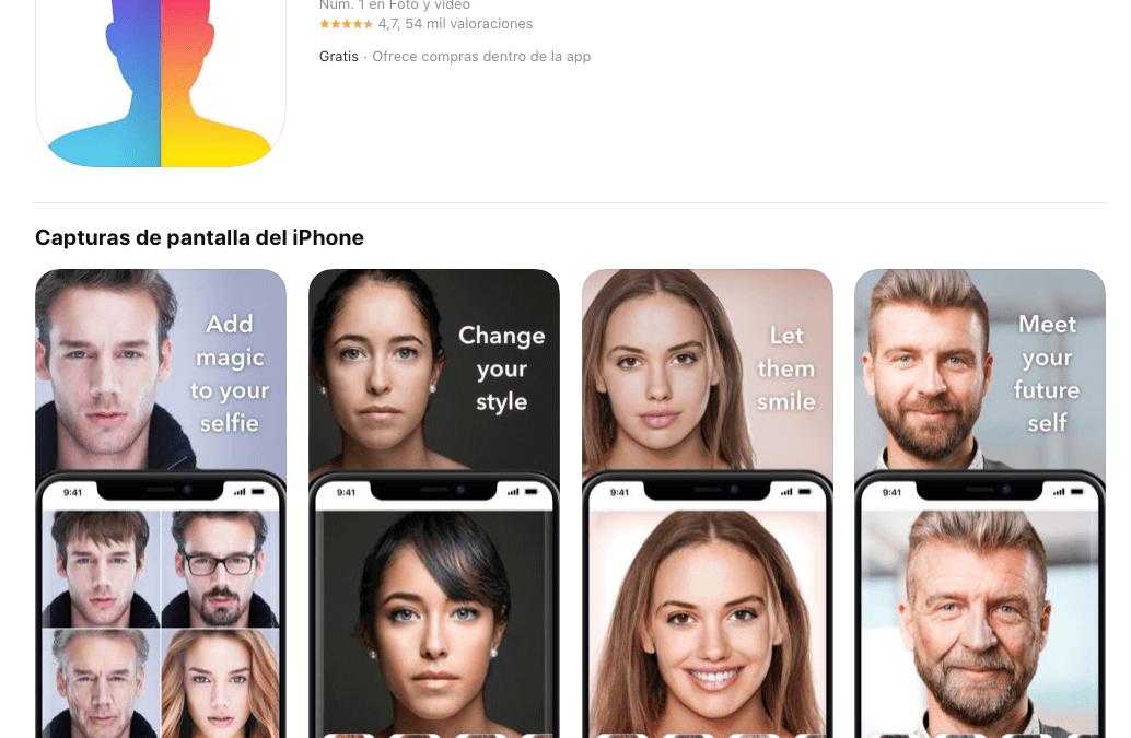 La aplicación FaceApp para ver tu rostro dentro de unos años