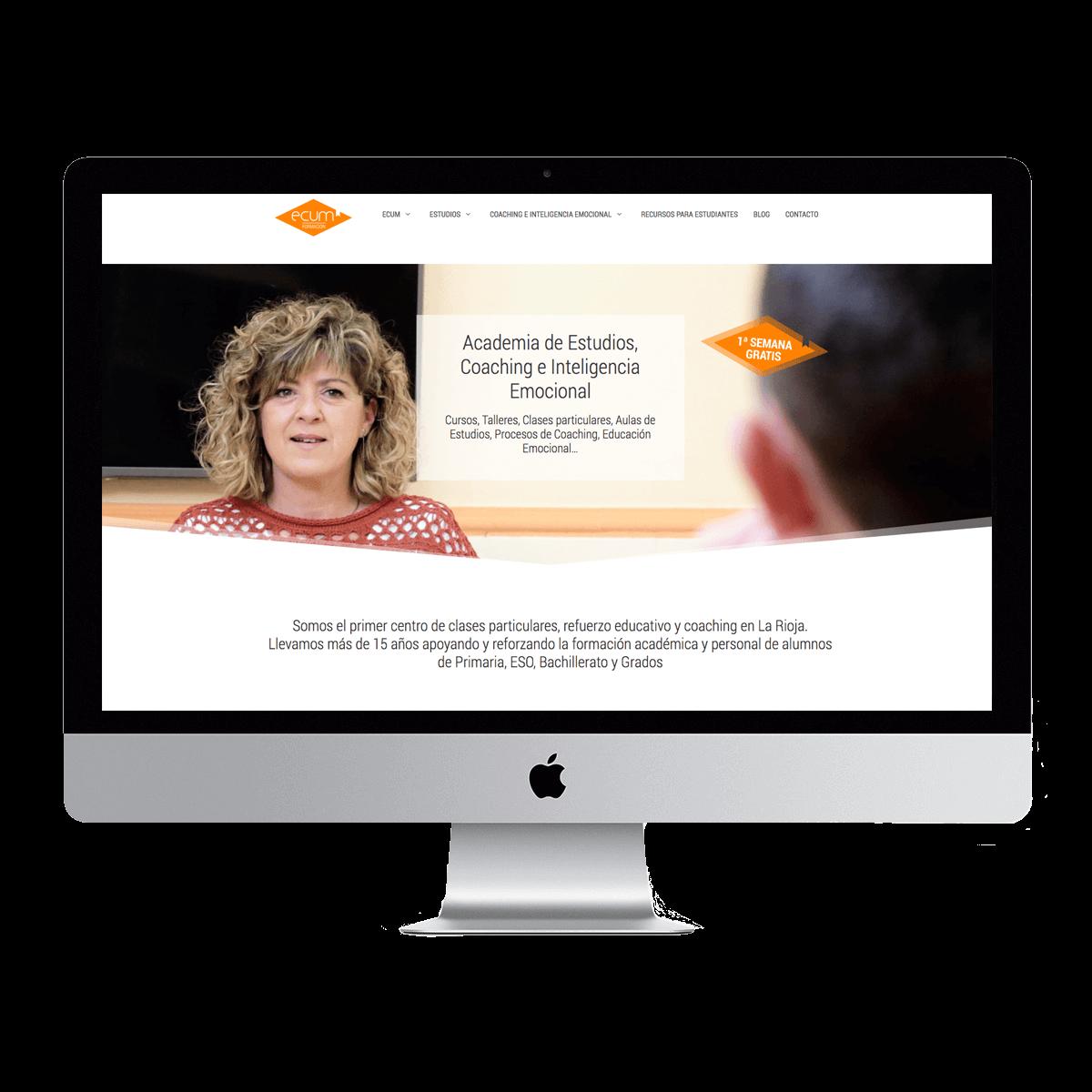 Sitio web de la academia Ecum Formación en Navarrete