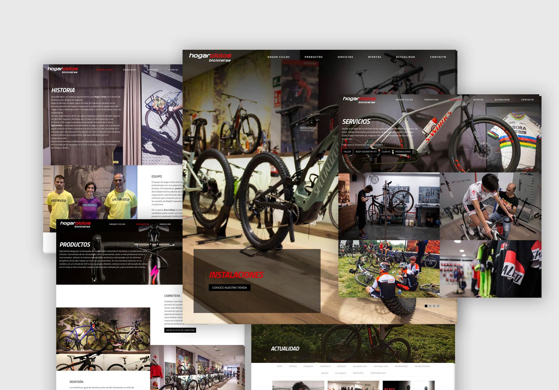 Diseño web para Hogar Ciclos Bicicletas en Logroño